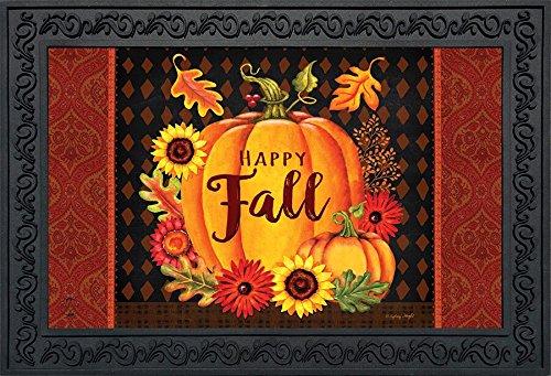 Briarwood Lane Happy Fall Pumpkin Doormat Floral Indoor Outdoor 18