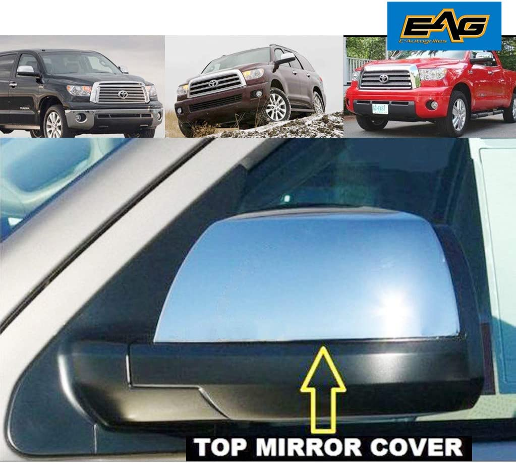 For TOYOTA Tundra CrewMax 2007-2014 2015 2016 2017 18 Black FULL Mirror Covers