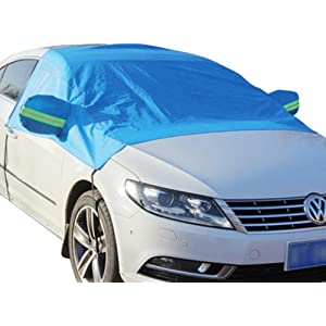 Aokebeey Car Windscreen Frost Cover Snow Cover Windshield Ice Cover Sunshade Protector in all Weather,1.5x2.45m Automotive
