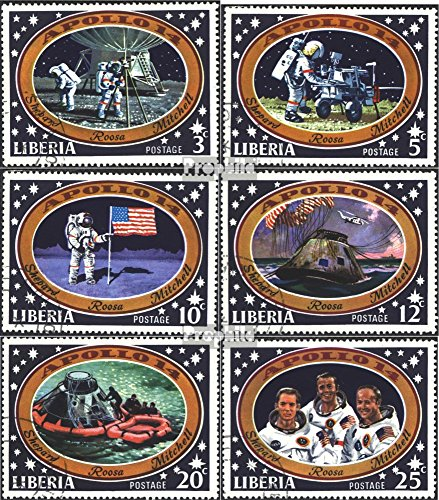 Liberia 777-782 (complete.issue.) fine used / cancelled 1971 Manned Moon Landing-Apollo14 (Stamps for collectors)