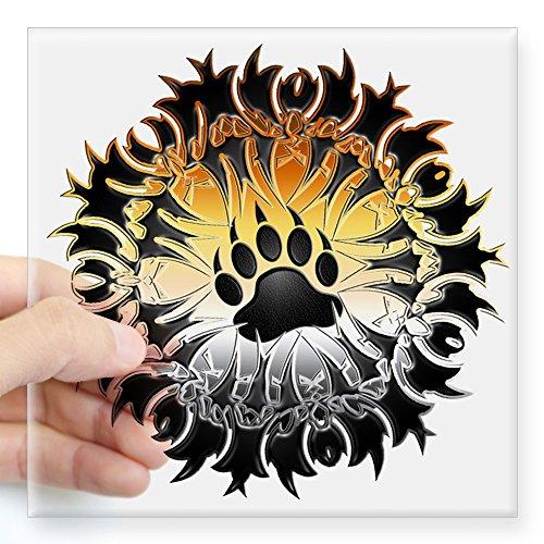 CafePress - Tribal Bear Pride Paw Square Sticker 3