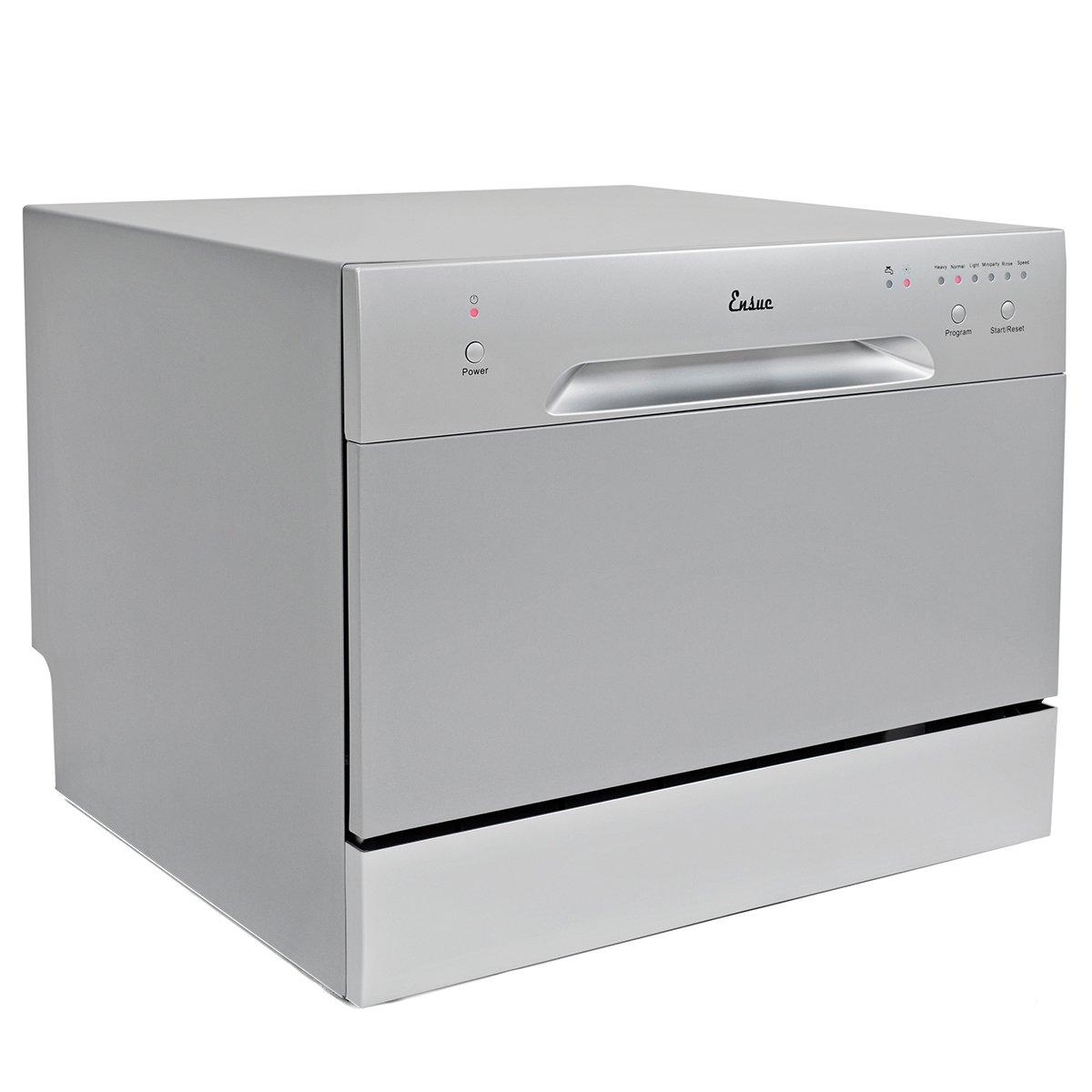 ... Countertop Dishwasher Portable Compact Dishwashing Machine Silver