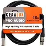 Gearlux XLR Microphone Cable Male to Female 10 Ft Fully Balanced Premium Mic Cable, 25 Foot