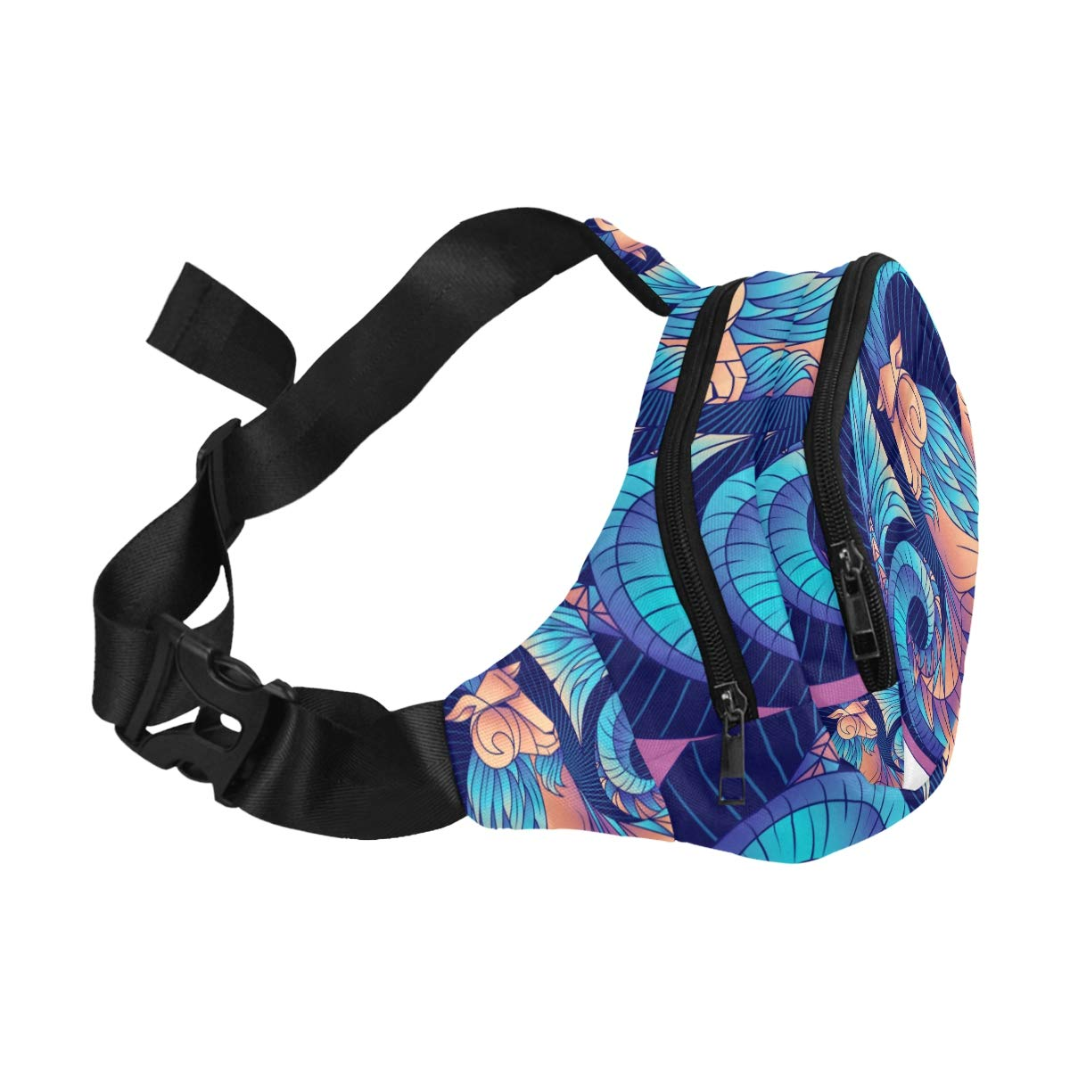 Zodiac Sign Capricorn Fenny Packs Waist Bags Adjustable Belt Waterproof Nylon Travel Running Sport Vacation Party For Men Women Boys Girls Kids