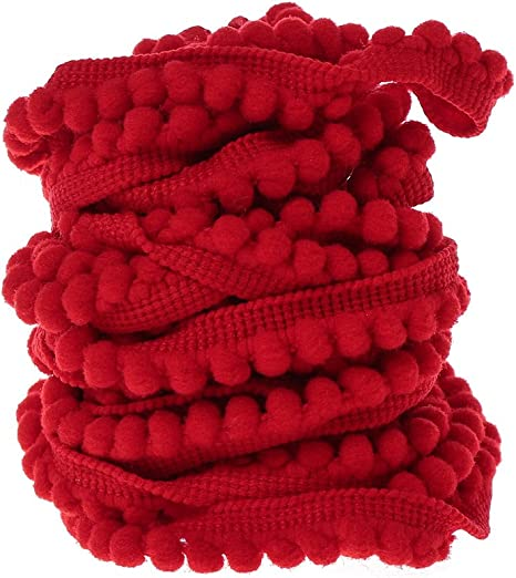 VIVIPA 20 Yards Mini Pom Pom Trim Ball Fringe Ribbon Tassel DIY Sewing Accessory Lace 2, White