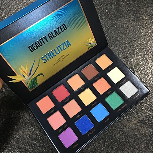 New Beauty Glazed 15 Color Eyeshadow Palette Makeup,Matte Ey