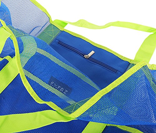 Spiaggia In Vacanze L'estate A Multifunzionale Divertimento Bb53 Pratica Xl E I Vestiti Tutti Portare Piscina Pesante Rete Blu Borsa Extra Exerz Famiglia Per Da qnSwTZxt