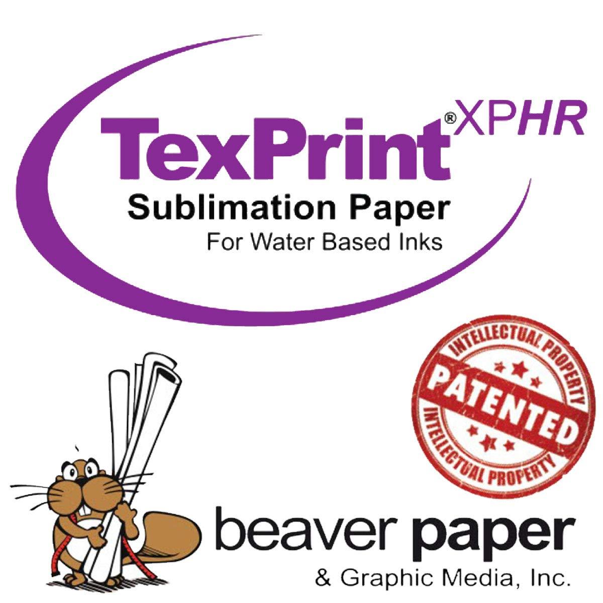 TexPrint XP HR Sublimation Transfer Paper 8.5'' x 11'', 110 Sheet Pack