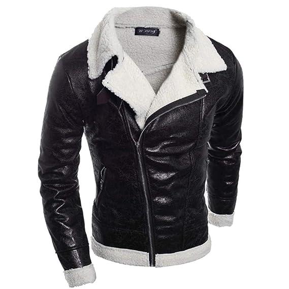 Amazon.com: XINDEEK Men Jackets Autumn PU Leather Standing ...