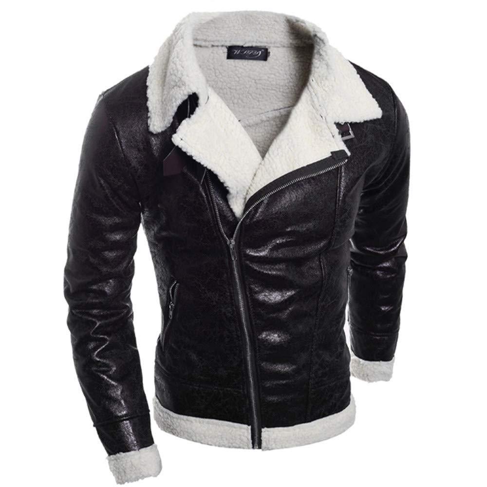 Seaintheson Men's Jacket Coat,Fashion Warm Lapel Outwear Top Casual Autumn Winter Long Sleeve Hoodie Pullover Sweatshirt