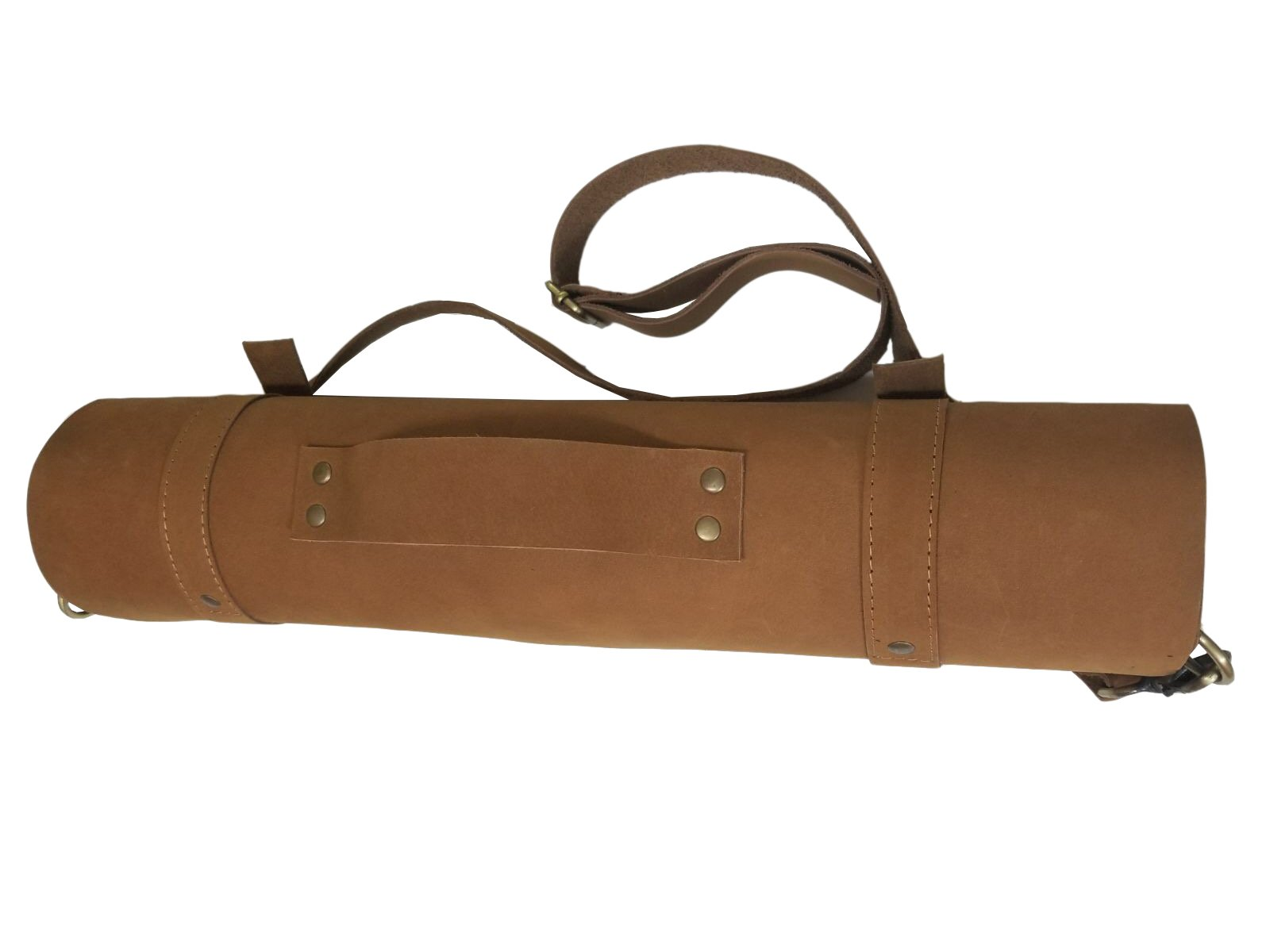 Lightweight Genuine Premium Vintage Tan Leather Professional Chef Knives Bag/Chef Knife Roll 8 Slots by luvsecretlingerie (Image #5)