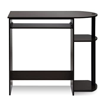 furinno simplistic easy assembly computer desk dark brown