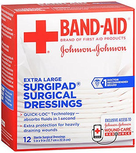 (Band-Aid Surgipad Surgical Dressing, Extra Large - Buy Packs and SAVE (Pack of 2))