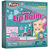 Playz Yummy Lip Balm Science Experiments & Craft Kit - 26+ Tools to Make Solar Lip Screen, Shimmering Balms, & Fruity Lip Protectors with Tasty Ingredients for Girls, Boys, Teenagers & Kids Ages 8+