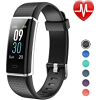 LETSCOM Fitness Tracker, Heart Rate Monitor Watch Color Screen, IP68 Waterproof, Step Counter, Calorie Counter, Sleep Monitor, Pedometer, Smart Watch Kids Women Men
