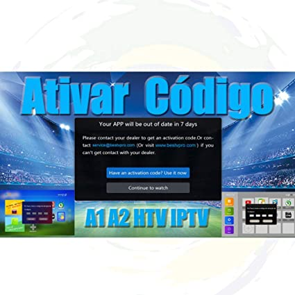 16 digit annual activate code for renew of HTV A1 A2 and Portuguese IPTV  series