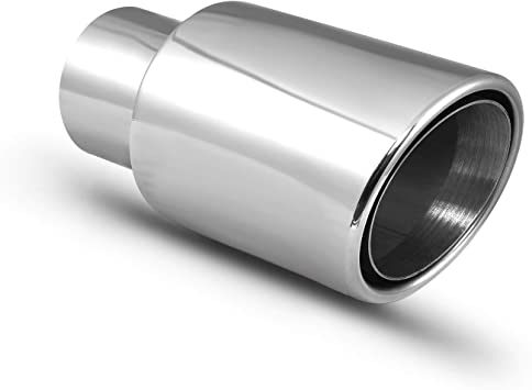Double Wall Exhaust tip Stainless Steel to give chrome effect To Fit 2.25 to 2.5 Inch Exhaust tail Pipe Diameter Car Muffler tips