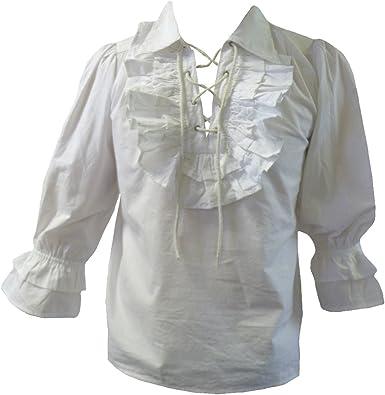 Niños gótico Frilly – Camisa de pirata Halloween Fancy-Dress LARP Victoriano para edades 6 – 14: Amazon.es: Ropa y accesorios