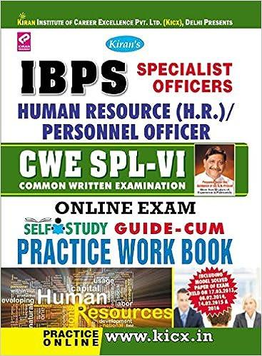 IBPS SPECIALIST OFFICER HR BOOKS EBOOK DOWNLOAD