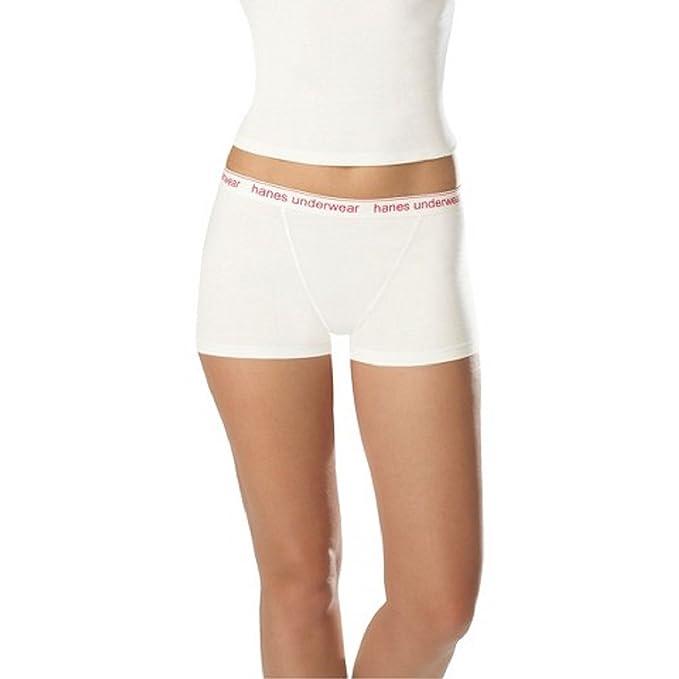 f90707e02d85 Hanes Premium Women's 4 Pack Boyfriend Cotton Boxer Brief Panties, Large,  Assorted