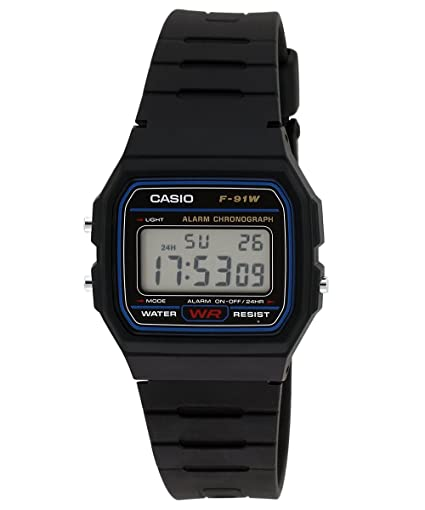 2a058cb3c Buy Casio Vintage Series Digital Black Dial Men's Watch - F-91W-1DG (D002)  Online at Low Prices in India - Amazon.in