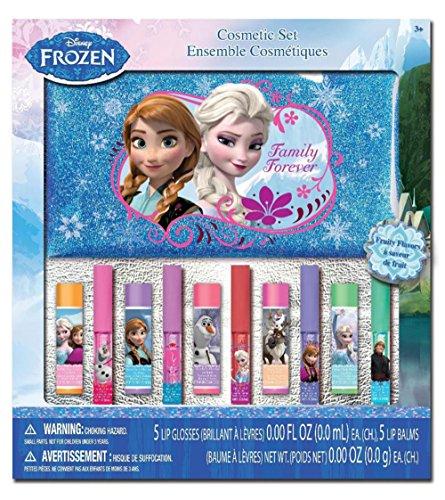 Замороженные 10pk бальзам для губ и блеск для губ с косметический мешок в коробке окна
