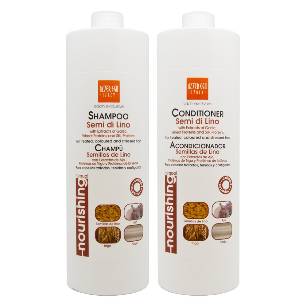 Alter Ego SET Semi De Lino Shampoo + Conditioner 1000ml