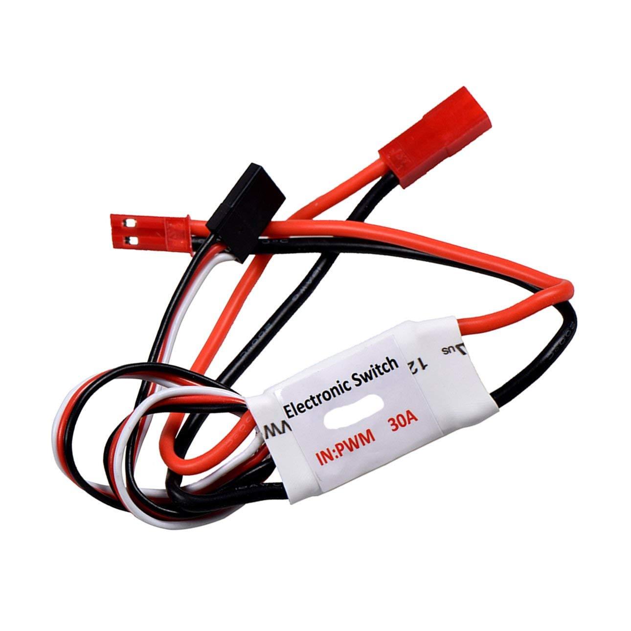 Ballylelly 30A Corriente 3.7V-27V Control Remoto Interruptor electr/ónico RC Bomba Interruptor Receptor Se/ñal PWM para Cambiar Luces