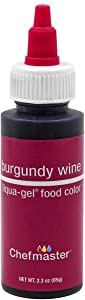 Chefmaster Liqua-Gel Food Color 2.3 oz. - Burgundy Wine