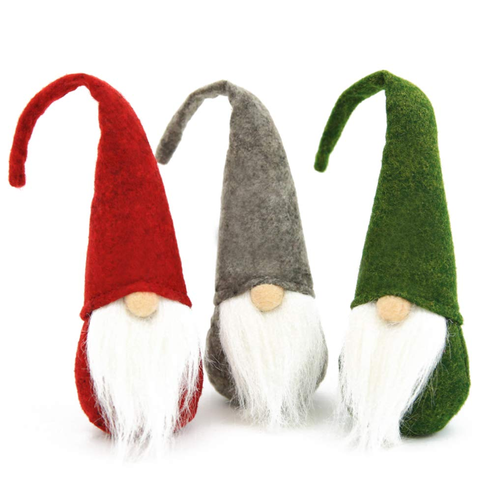 FuturePlusX Swedish Santa Gnome Plush, 3PCS Handmade Scandinavian Tomte Santa Scandinavian Gnome Plush for Christmas Santa Decoration Table Decor