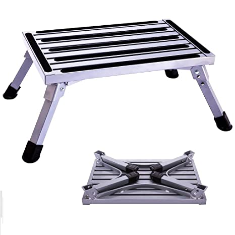 Fabulous Idealchoice Aluminum Folding Platform Steps Portable Rv Alphanode Cool Chair Designs And Ideas Alphanodeonline