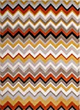 "Home Dynamix Tremont Area Rug | Modern Bedroom Room Rug | Bold Zigzag Pattern | Stylish Comfort | Orange, Gray, Beige 7'10"" x 10'5″ Review"