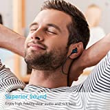 iClever Bluetooth Headphones, Lightweight Wireless Earphones with Built-in Mic, Noise Cancelling, Nano-coating Waterproof, 8-Hour Playtime, Wireless Earbuds for Gym Workout Running, Black