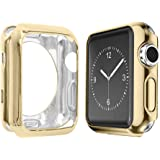 Apple Watch Case 42mm, Alritz Soft Slim TPU Protective Case Anti-Scratch Bumper Cover for Apple Watch Series 1/2/3 (Gold, 42mm)
