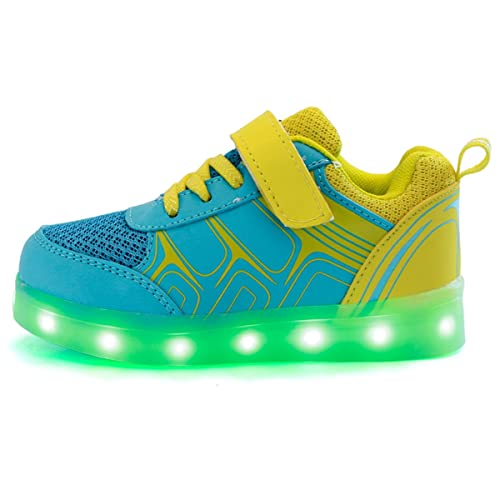 DoGeek Zapatos Led Deportivos para Hombres Mujeres 7 Color USB Carga LED Luz Glow Luminosos Zappatillas Light Up USB Velcro Flashing Zapatillas: Amazon.es: ...