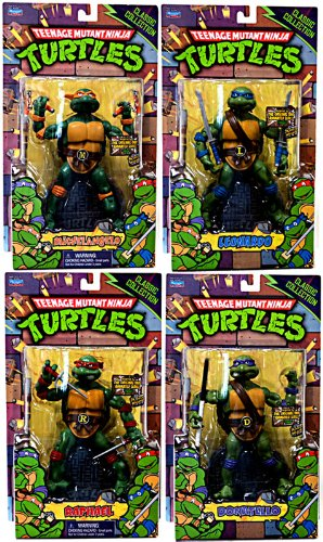 Teenage Mutant Ninja Turtles Set of 4 Classics Retro Action Figures [Leonardo, Donatello, Raphael & Michelangelo]