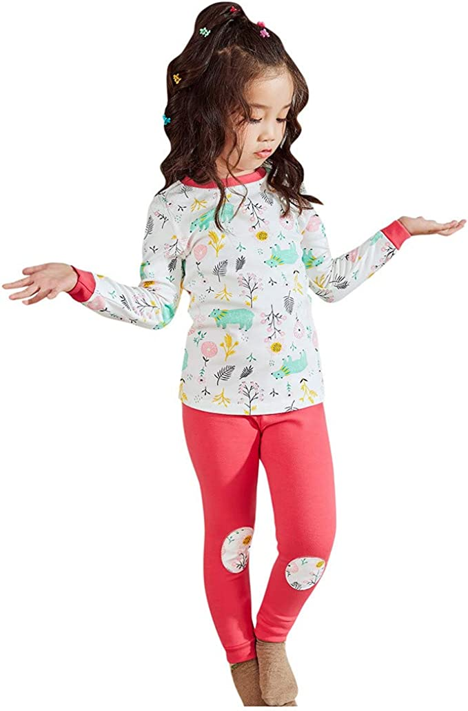 Toddler Baby Girls Cute Letter Print Long Sleeve Shirt Floral Pant Tracksuit Outfits Set