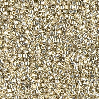 - Miyuki Delica 11/0 Cylinder Seed Beads - Duracoat Galvanized Silver - DB1831 5 grams
