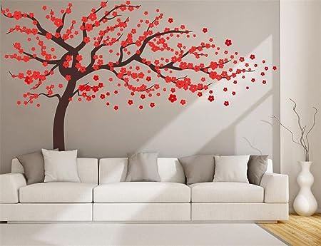 Autocollant mural autocollant mural avec motif floral Marron 10 cm x 5 m