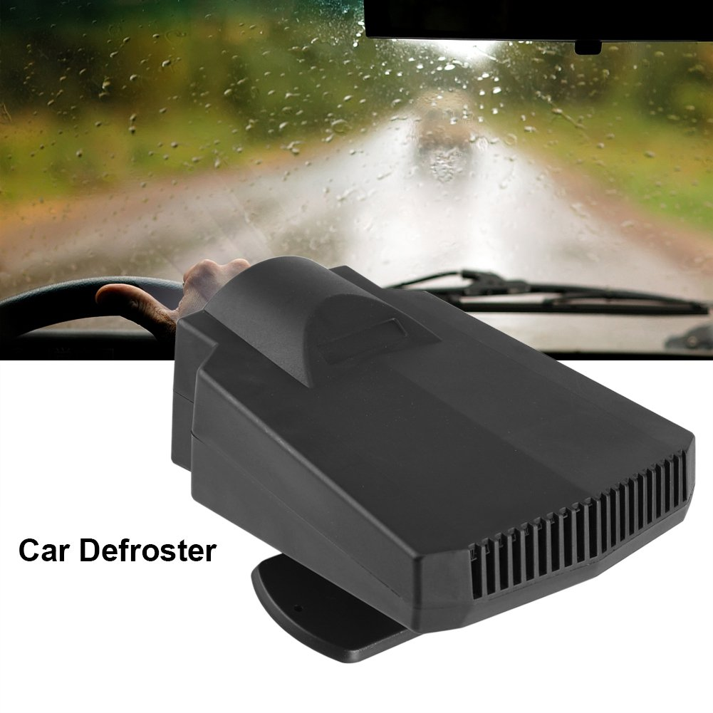 12V 250W Car Defroster,Acogedor Rotatable 360/° Car Heater Warm Heater Windscreen Demister Defroster,2 in1 Portable Winter and summer Auto Car Van Heater Cooling Fan