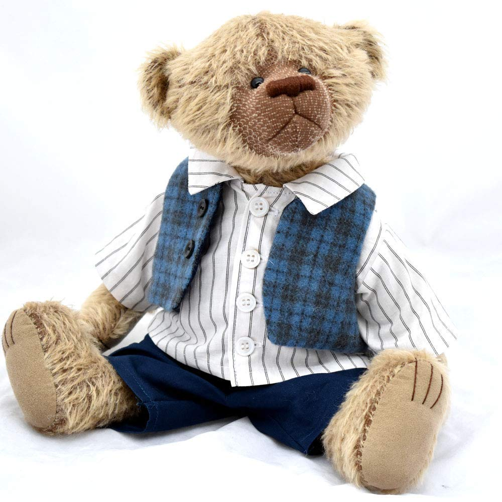 Granville-Teddy Bear OOAK Steiff Schulte Brown Mohair Artist Collectable 15 inches
