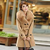XOWRTE Women's Lapel Wool Coat Fall Winter Trench