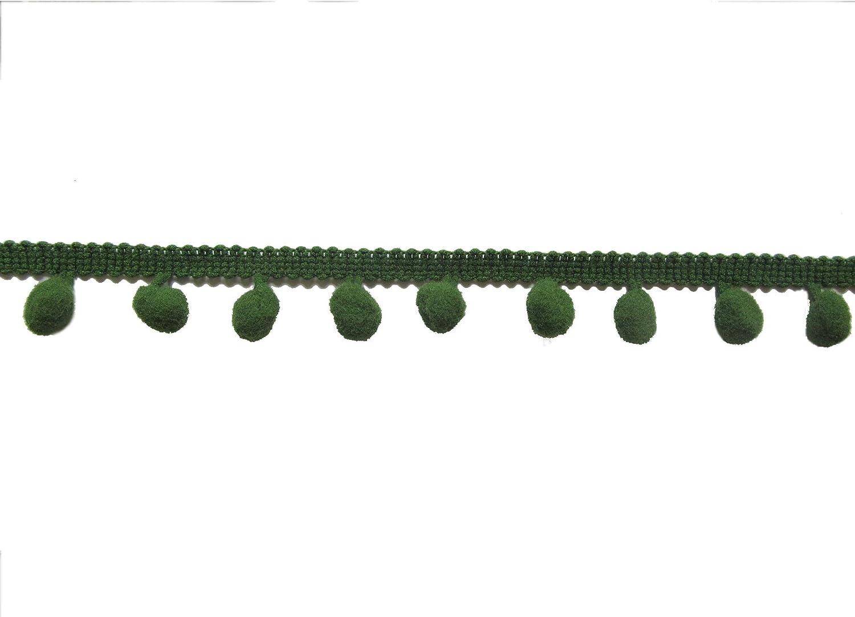 XiXiboutique 18 Yards Ball Fringe Pom Pom Trim Ribbon Sewing Pom Ball Size 10mm,Cream