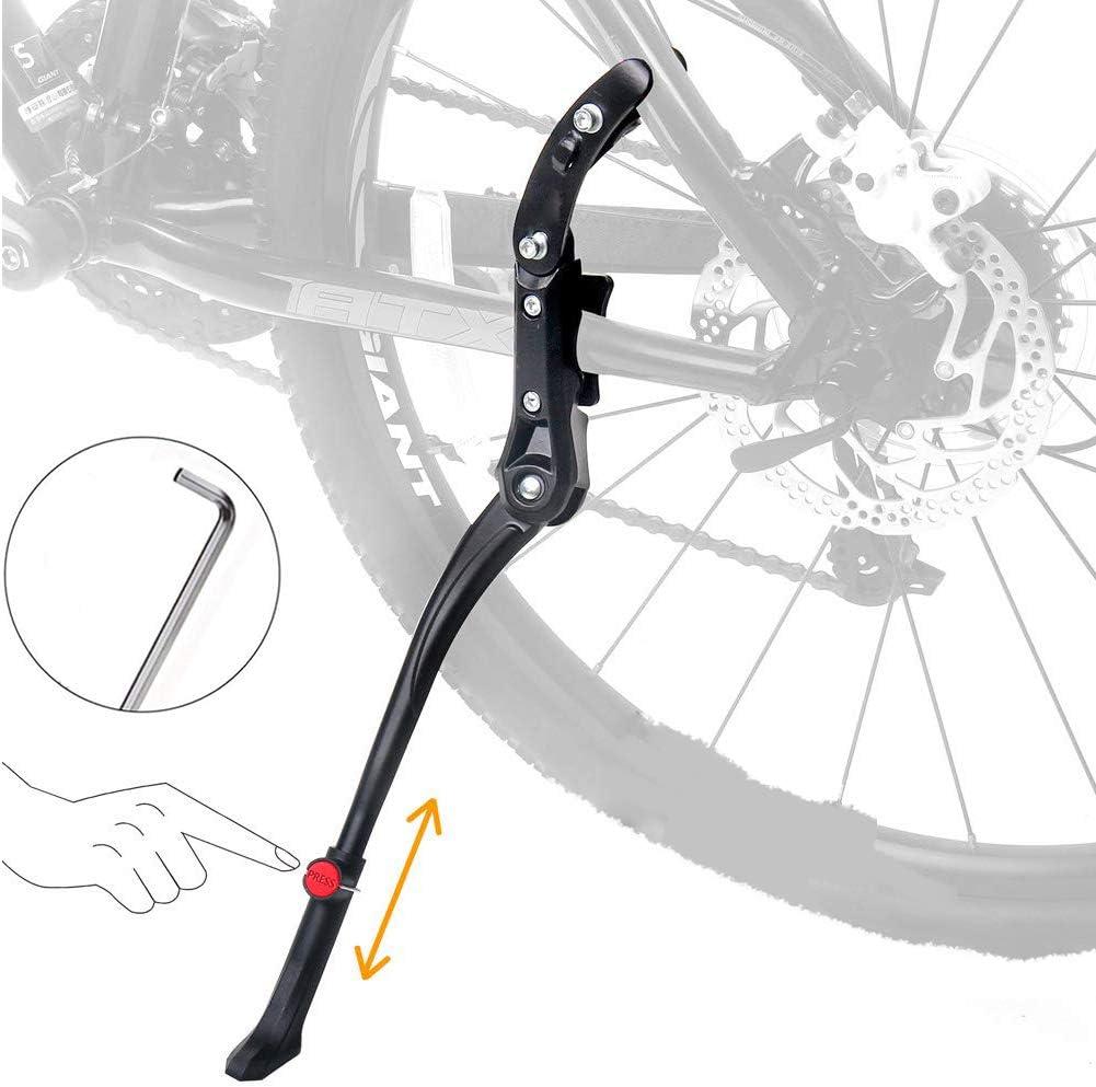 "Universal Bike Rear Bracket Adjustable Kickstand Side Stand Leg for 20/""//24/""//26/"""