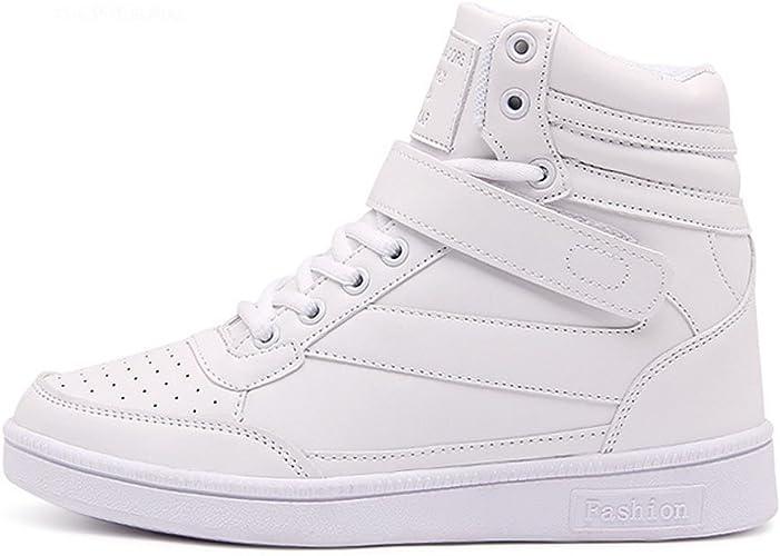 Donna Stivali Zeppa Sneakers Scarpe da Ginnastica da Polacchine Stivaletti Strappo Stealth Tacco 7 CM Scarpe Sportive