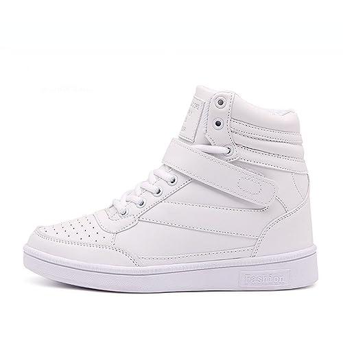 Donna Stivali Zeppa Sneakers Scarpe da Ginnastica da Polacchine Stivaletti  Strappo Stealth Tacco 14 CM Scarpe e3feb15693a