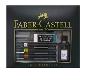 Faber-Castell TG1-S Technical Drawing Pens - College Set (3 Line Widths