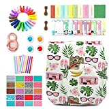 Uniuni 7 in 1 Accessories Bundles (Travel Case / Close-up Selfie Lens / 4 Colors Filters / Wall Hang Frames /Film Stickers /Corner sticker) For Fujifilm Instax Mini 8 8+ 9 Cameras