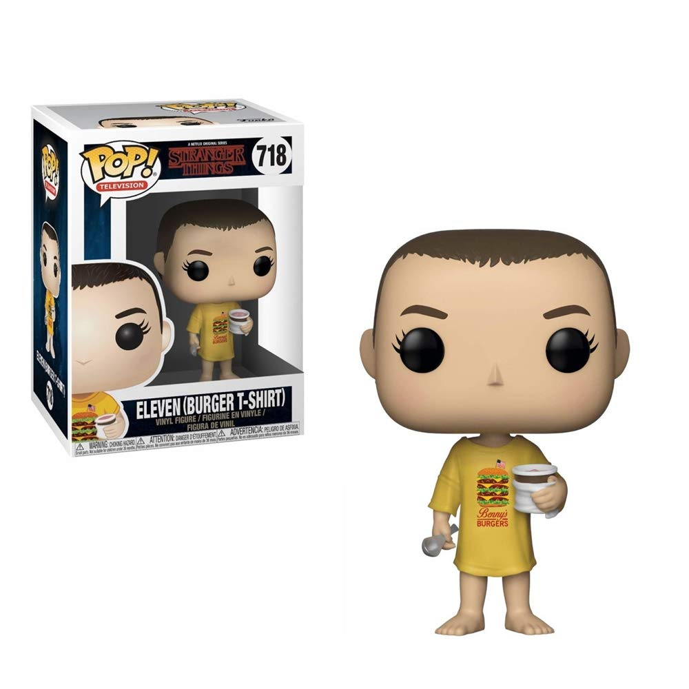 Funko 35057 Pop Vinilo: Stranger Things: Eleven in Burger tee, Multi