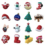 16pcs Santa Claus Christmas Day Present Shoe Charms
